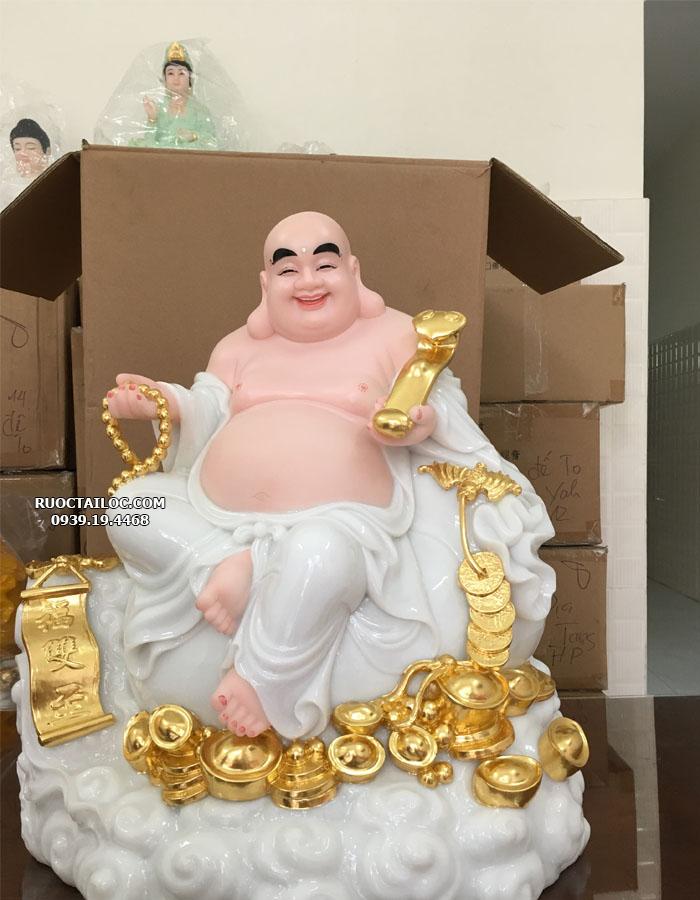 tượng phật di lặc trắng ngồi đứng đẹp