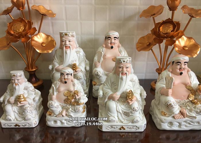 ở đâu bán tượng ông địa thần tài bằng sứ trắng viền vàng đẹp tại hcm