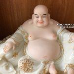 tượng phật di lặc trắng viền vàng đẹp