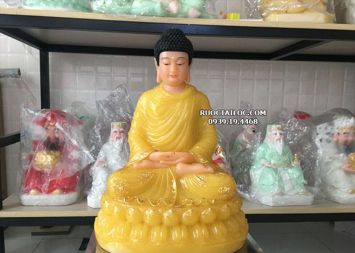 tượng phật thích ca mâu ni đẹp màu vàng ngọc