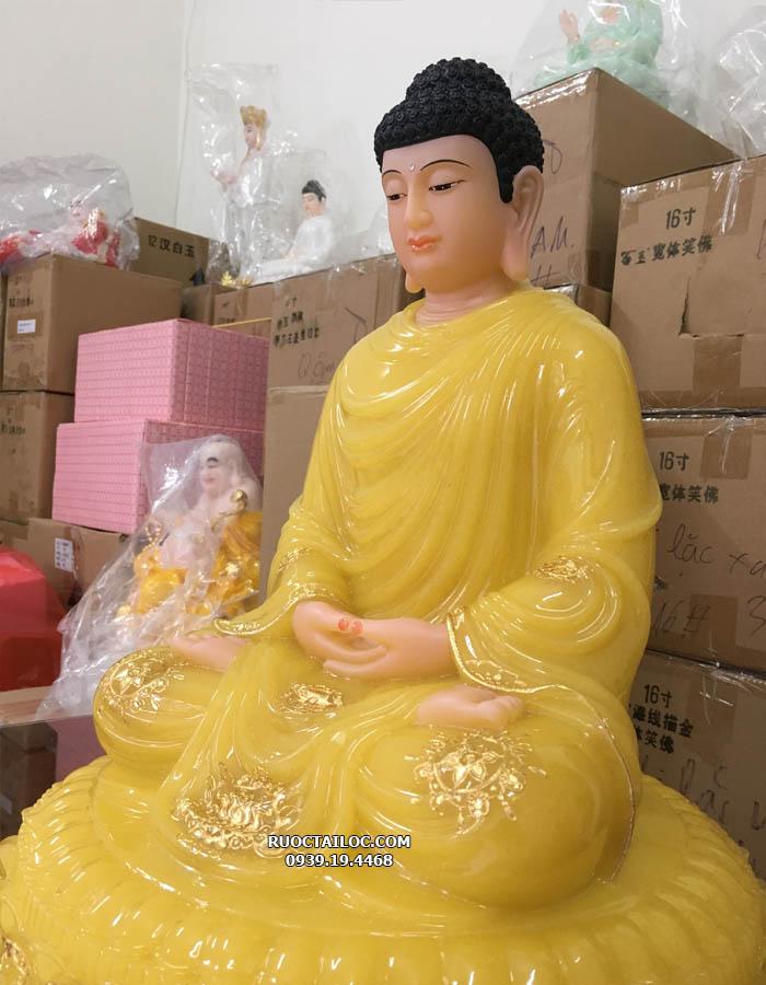 mẫu tượng phật thích ca mâu ni đẹp nhất màu vàng thạch anh