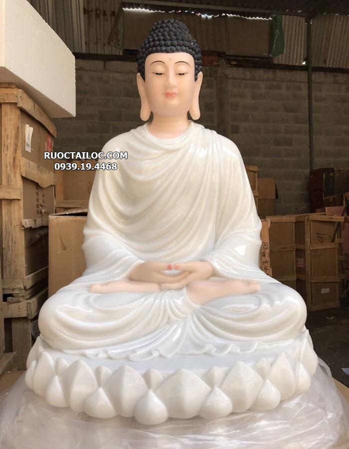 tượng phật thích ca mâu ni màu trắng đẹp nhất