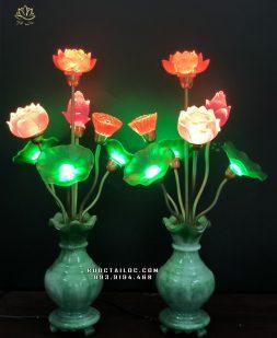 đèn bình ngọc 7 bông thờ phật đẹp nhất