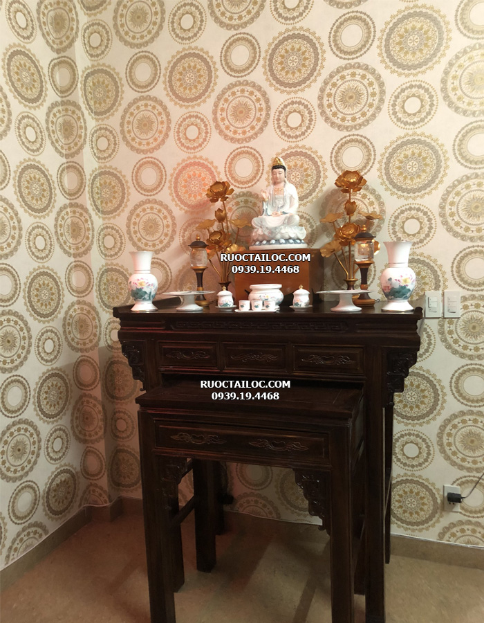 trọn bộ bàn thờ quan âm bồ tát tại nhà cho khách tại hcm
