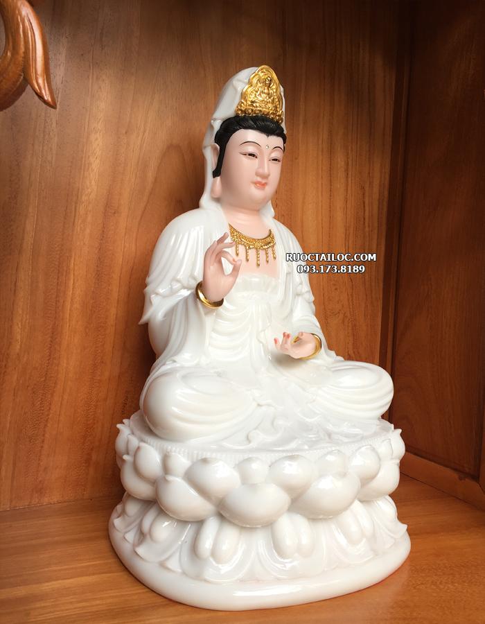 địa chỉ bán tượng mẹ quan thế âm bồ tát bằng đá trắng ngọc đẹp nhất hcm
