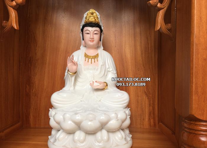 mua tượng mẹ quan thế âm bồ tát bằng đá trắng ngọc đẹp nhất hcm