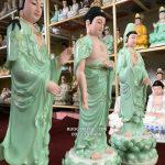 địa chỉ bán tượng tây phương tam thánh vẽ hoa 3d đẹp