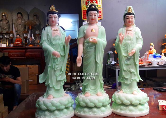 tượng tây phương tam thánh xanh ngọc đẹp nhất