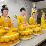 mua tượng tây phương tam thánh đẹp màu vàng ở đâu