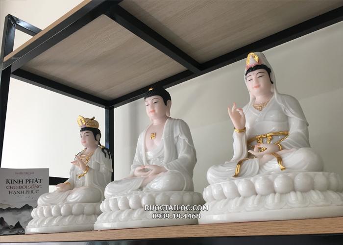 tượng tây phương tam thánh đế to trắng đẹp tại hcm