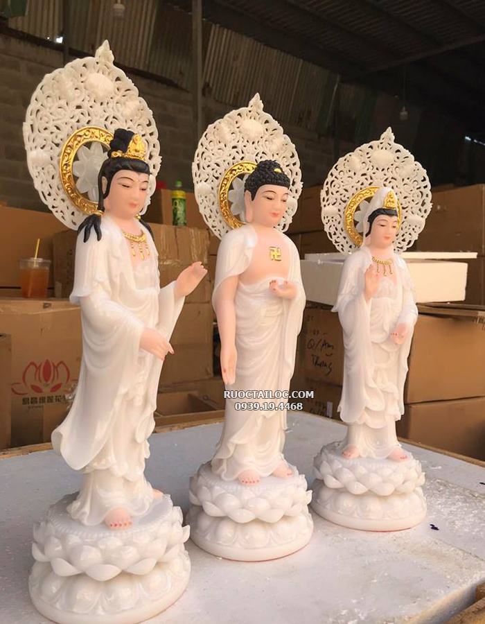tượng tam thế phật trắng đẹp nhất
