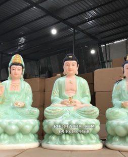 tượng tây phương tam thánh xanh ngọc 3d đẹp nhất