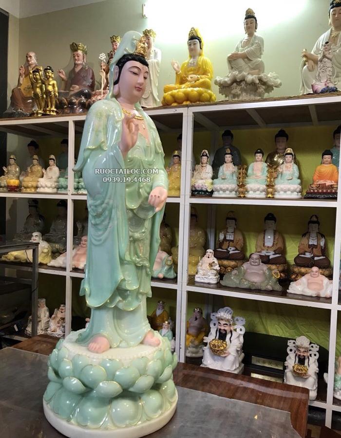 tượng quan âm xanh ngọc đẹp nhất