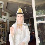 tượng quan thế âm bồ tát bằng đá trắng đẹp