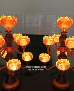 Đèn Thân Cổ Hợp Kim Sen Cụp Đổi Màu DCD-008