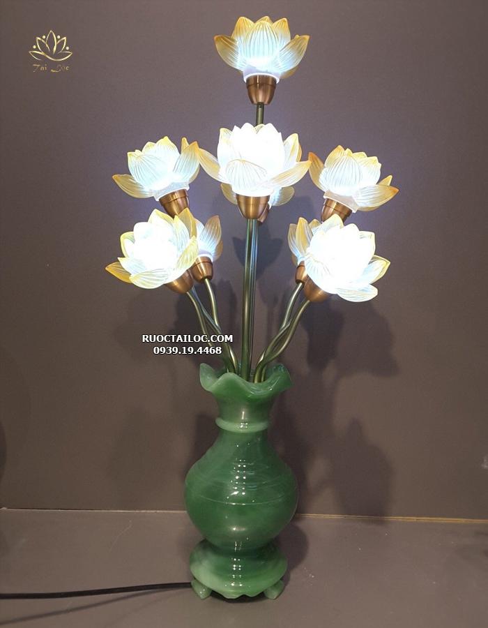 địa chỉ bán đèn hoa sen lưu ly ngọc đẹp