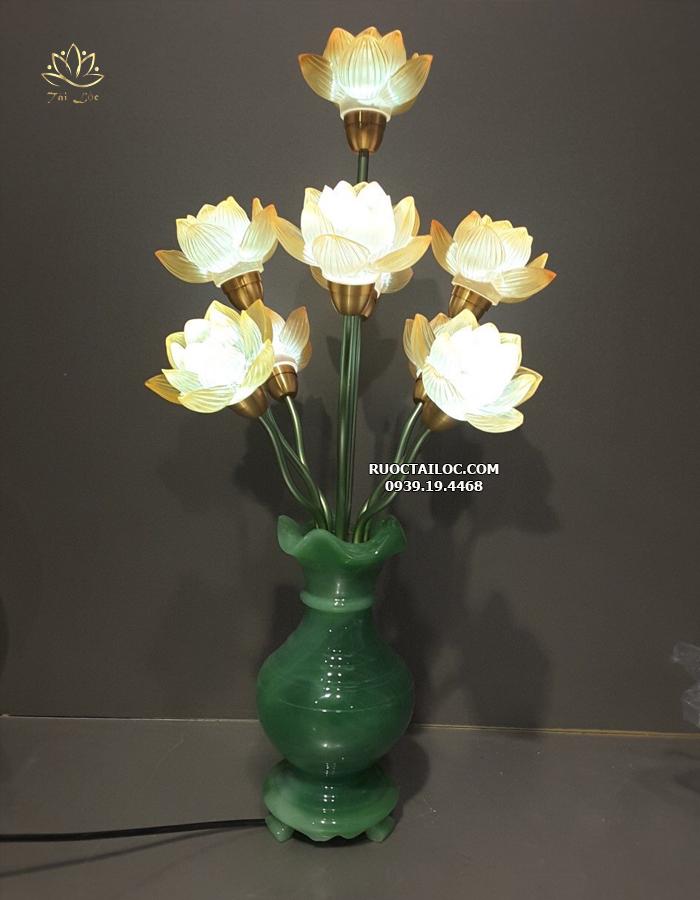 Đèn Bình Ngọc 9 Bông Sen DCD-007