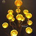 đèn hoa sen lưu ly thân cổ đẹp