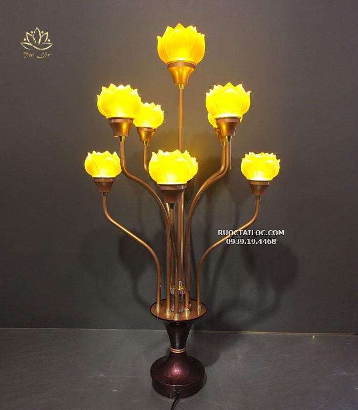 đèn thờ phật thân dài 13 bông đẹp
