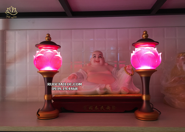 đèn trang trí bàn thờ phật đẹp