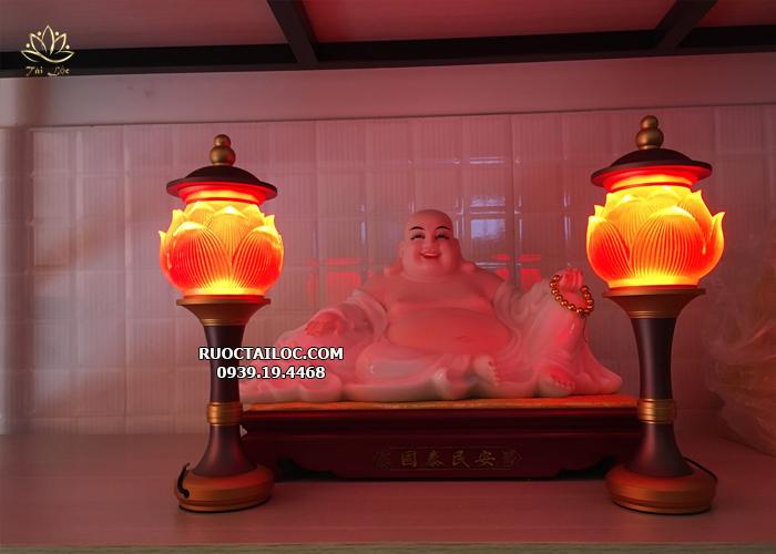 đèn lưu ly thờ phật đổi màu đẹp