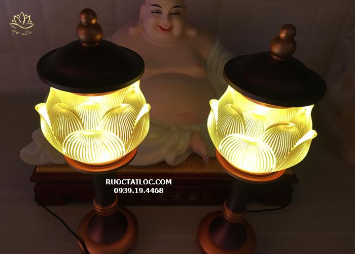 đèn hoa sen lưu ly thờ phật và gia tiên đẹp nhất hcm