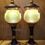 đèn thờ cúng lưu ly thân hợp kim đẹp nhất