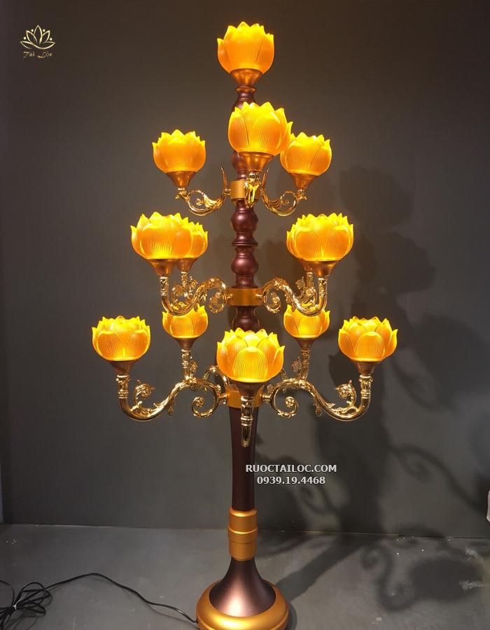 đèn thờ cúng thân cổ hoa sen đẹp nhất hcm