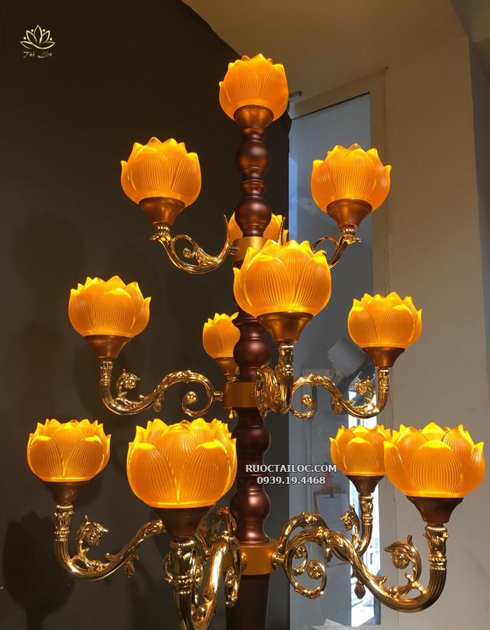 mua đèn nhiều bông thờ cúng đẹp