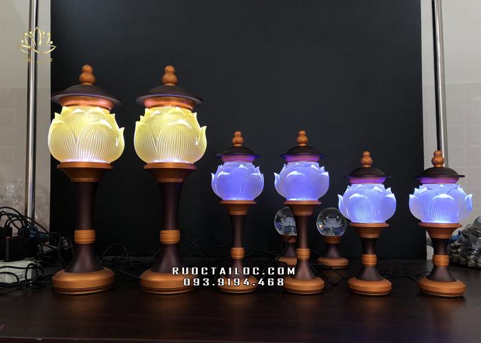 đèn bàn thờ gia tiên đẹp