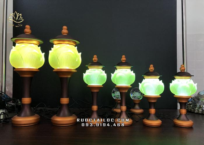 địa chỉ bán đèn thờ phật bằng lưu ly đẹp