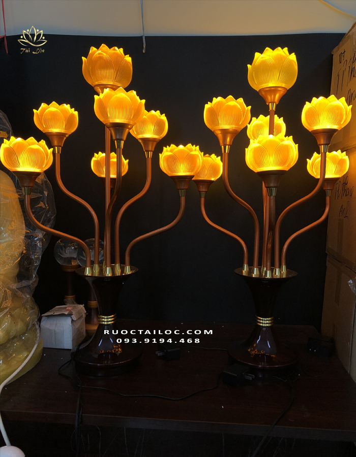 đèn cúng dường chùa to - đẹp nhất