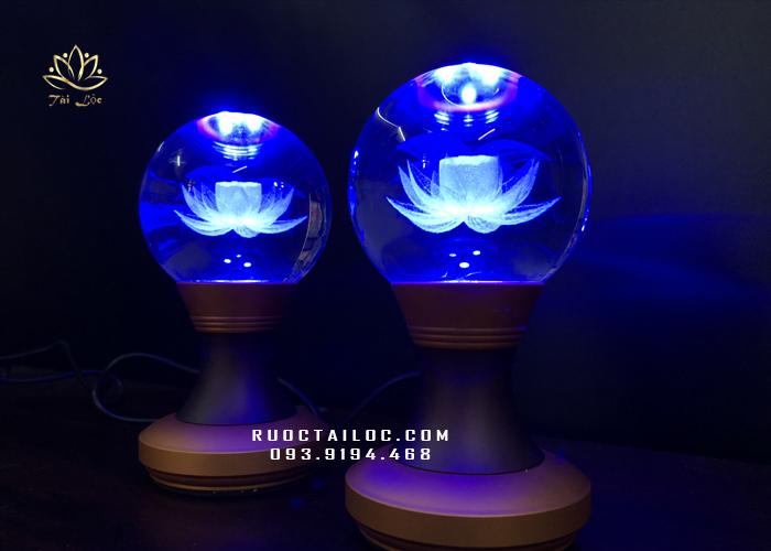đèn cầu tròn thân hợp kim mini đẹp nhất