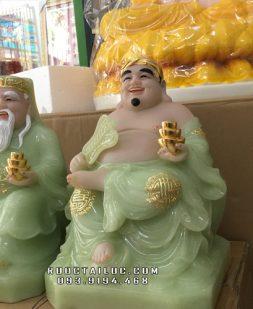 tượng ông địa thần tài bằng đá xanh ngọc đẹp nhất