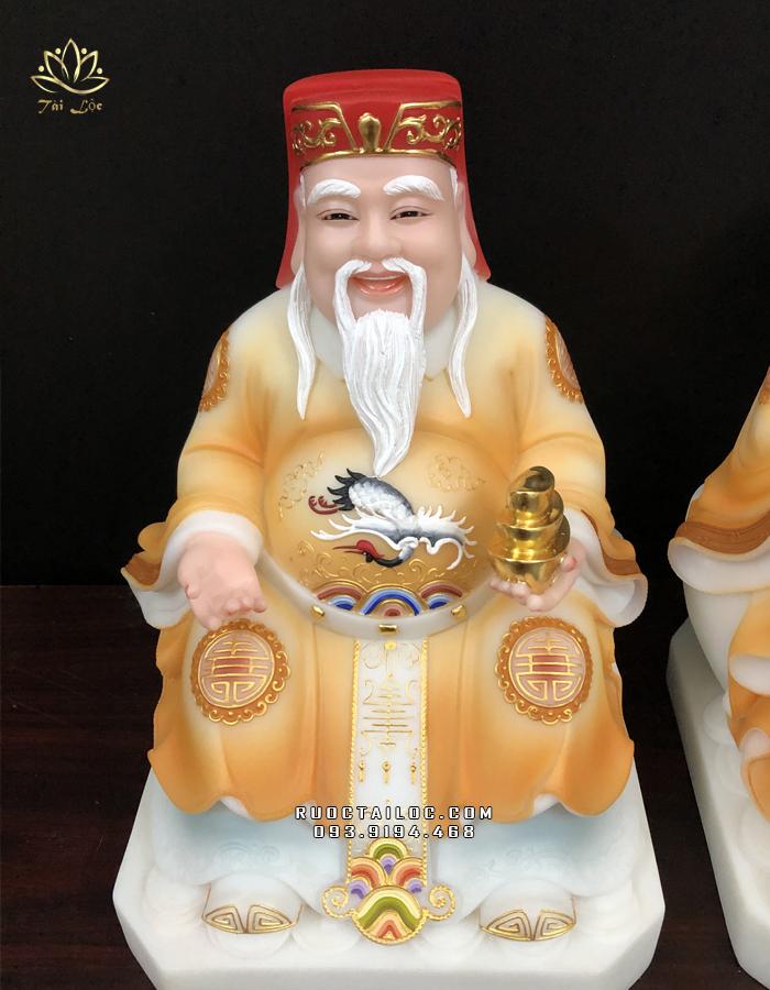 tượng ông địa thần tài vẽ gấm vàng đẹp nhất