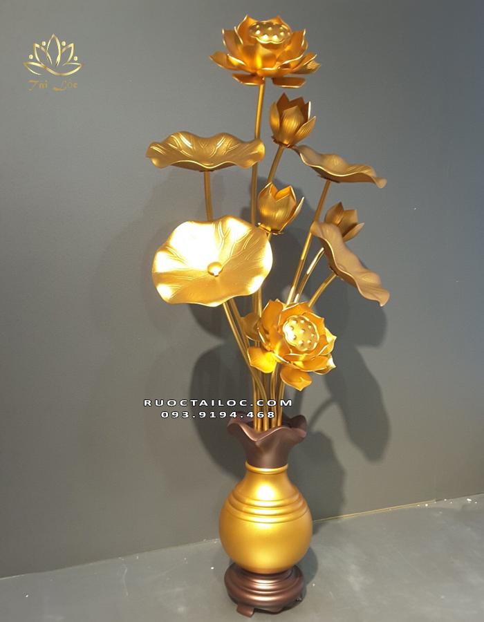 đôi lọ hoa sen đồng thờ cúng đẹp nhất