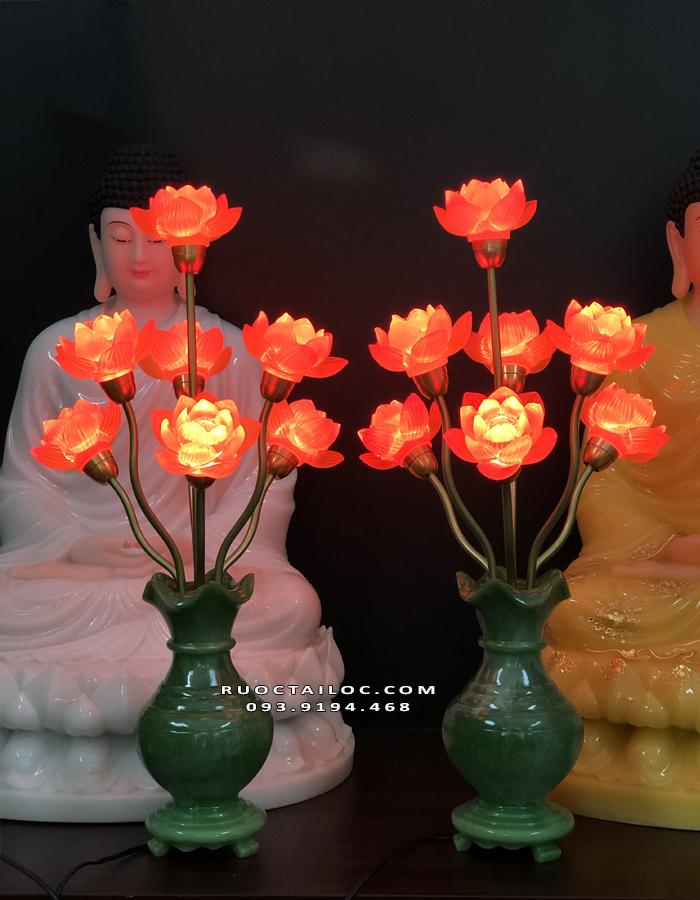 đèn bình ngọc thờ gia tiên đẹp nhất