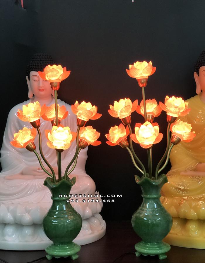 đèn bình ngọc thờ phật đẹp
