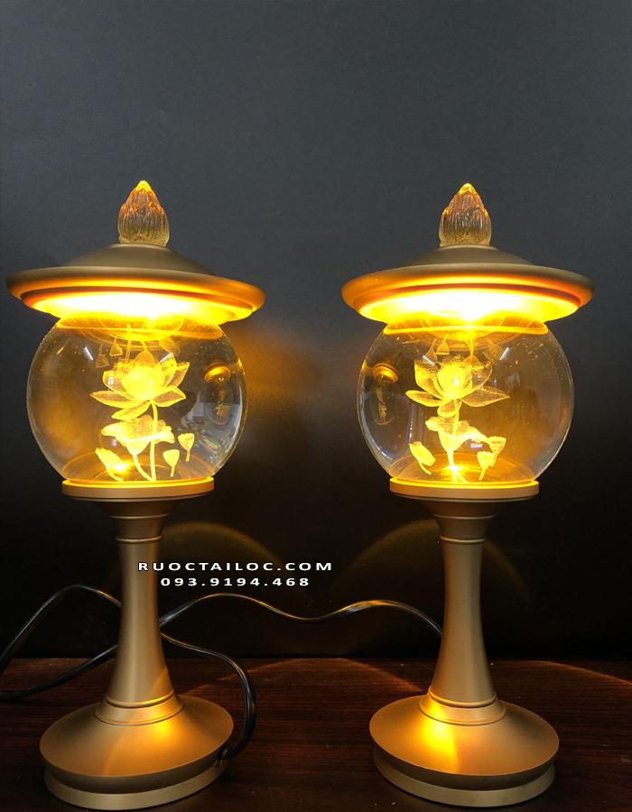 đèn đồng thờ phật bà quan âm đẹp