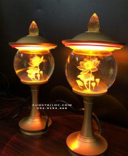 đèn thân đồng nắp đồng thờ cúng đẹp