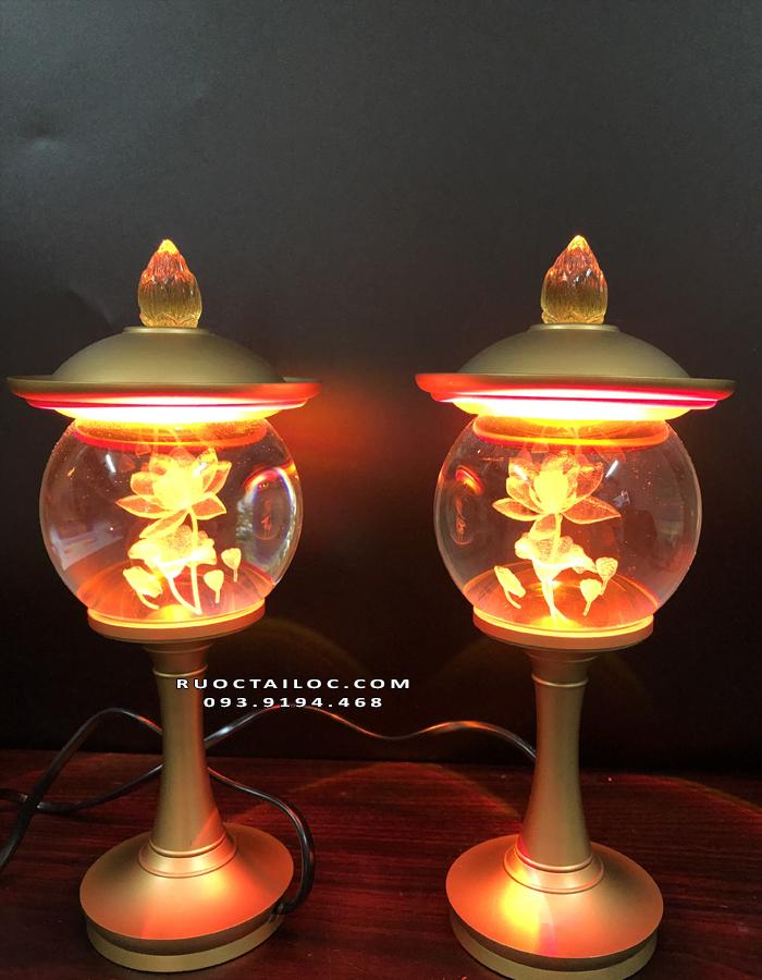 đèn đồng thờ Phật Thích Ca đẹp