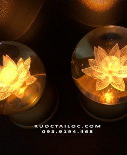 đèn cầu tròn thờ phật giá rẻ dùng pin