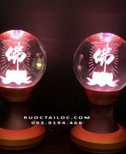 đèn hoa sen chữ phật thờ cúng đẹp nhất