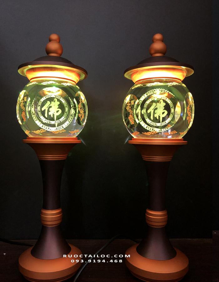 đèn thờ cúng chữ Phật khắc chữ đẹp