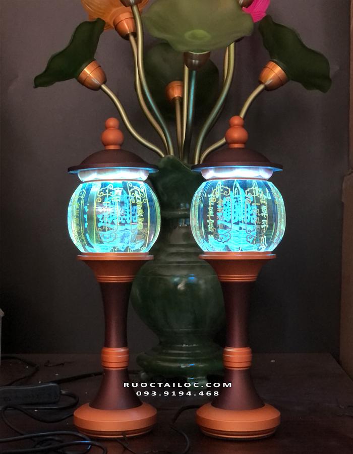 đèn thờ cúng chữ phúc chiêu tài đẹp