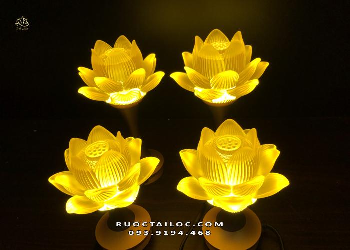 đèn sen nở lưu ly đẹp tại hà nội