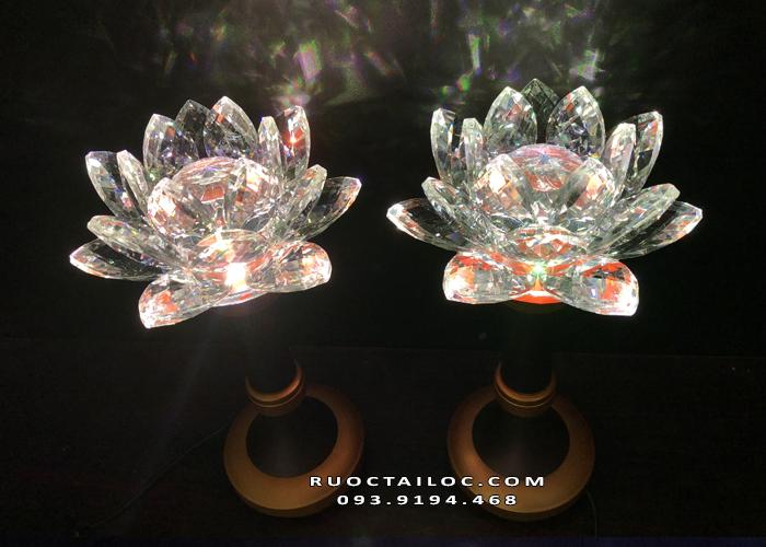 đèn hoa sen kim cương đẹp