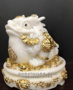 cóc ngậm tiền bằng bột đá trắng dát vàng đẹp