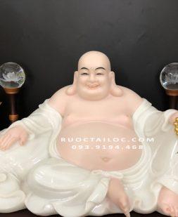 Tượng Phật Di Lặc trắng hợp mệnh đẹp nhất