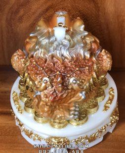 cóc ngậm tiền bằng bột đá vàng màu khoáng đẹp nhất